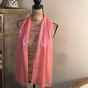NWT Pink Sequined Scarf❤️